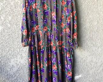 Grey floral Ratio maxi dress