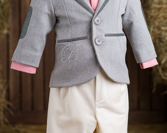 Patrick Ring Bearer Outfit, Formal Boy Suit, First Birthday Suit, Embroidered Suit For Boys, Toddler Suit, Wedding Boy Suit