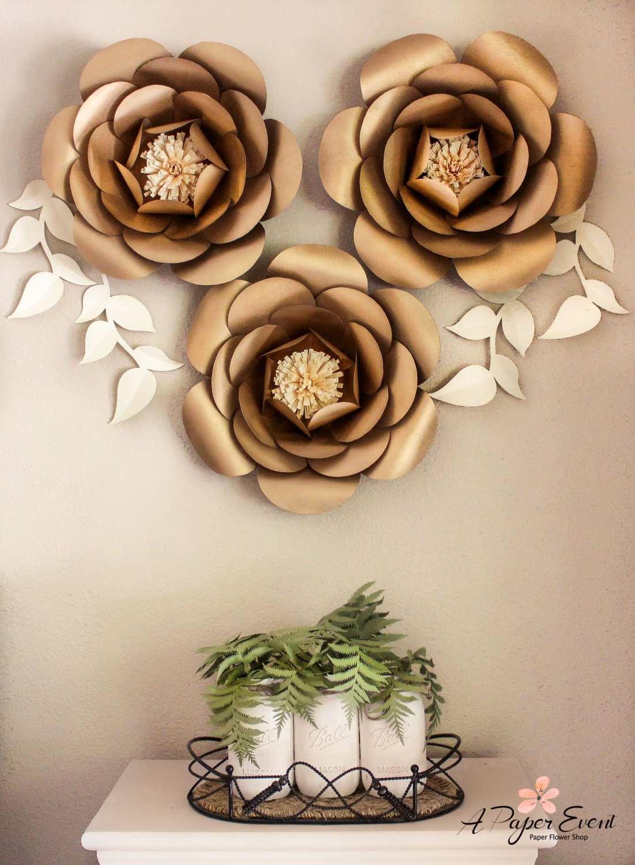 Papel de tel n de fondo de flores flores de papel gigantes - Figuras decorativas grandes ...