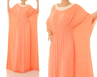 Kaftan Maxi Dress | Dubai Kaftan Dress | Abaya Maxi Dress | Moroccan Kaftan | Boho Wedding Kaftan Beach Long Kaftan | Maternity Kaftan 6343