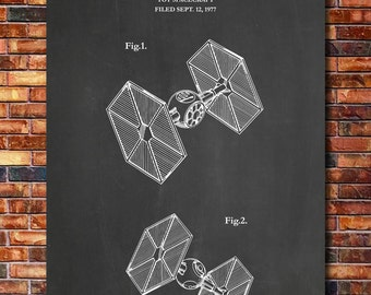 Patent Print of Tie Fighter 1980