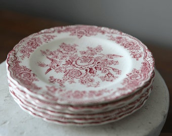 Bristol Pink by Crown Ducal Ironstone Bread and Butter Plates