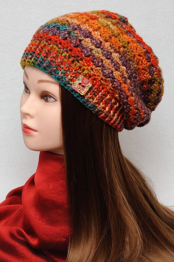 womens hats crochet hat slouchy hat slouchy by