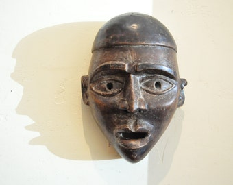 Antique Yombe Ceremonial Mask, African Mask- Tribal Decor