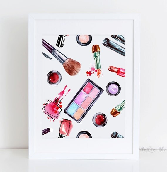 Makeup Printable Cosmetic Wall Art Beauty Room By