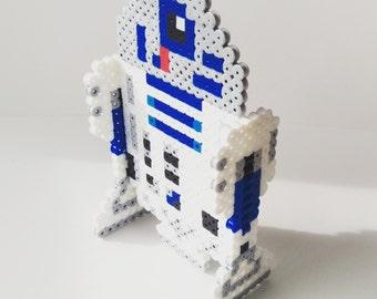 R2D2 3D Perler - Stand Up Perler Sprite - Star Wars Decoration