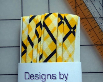 Double Fold Bias Tape with Patterned Fabric
