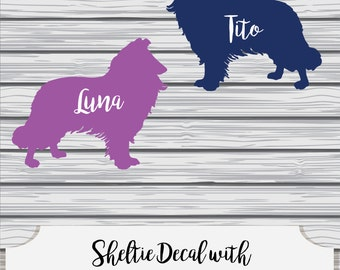 Personalized Sheltie Decal~Multiple Size & Color Options!