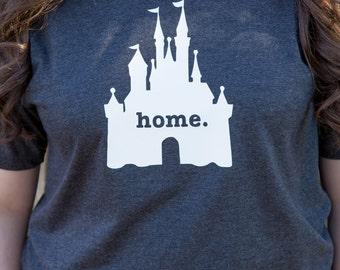 Disney Home Castle Shirt - Great for a Disneyland or Walt Disney World Vacation!!