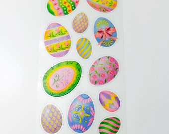 Stickers - Easter Eggs Sparkly/Glittery Stickers