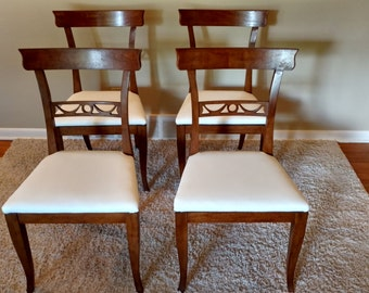 Mid Century Henredon Set of Four  Dining Chairs