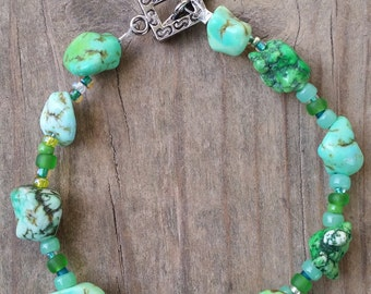 Green Nugget Bracelet