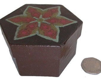 Metallic Indian Star Box, Brown Star Box, Metallic Star Jewellery Box, Indian Star Jewellery Storage Box, Brown Gift Box, SALE item