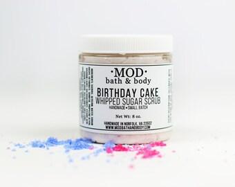 Whipped Sugar Scrub BIRTHDAY CAKE Sugar Scrub