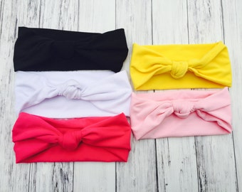 Knotted Headbands - Baby Girl Headbands - Girls' Headbands - Turban Knotted Headbands - Turban headbands - Turbans - Turban Bows