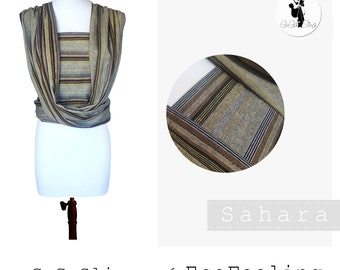 GuGaSling Wrap Sahara, Baby sling woven wrap- Width 70 cm, Baby wrap, Baby carrier, Cotton, Gift bag