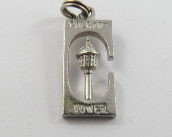Calgary Tower Sterling Silver Charm or Pendant.