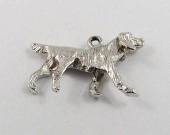 Golden Retriever Dog Sterling Silver Charm or Pendant.