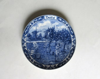 vintage Delfts blue made in Holland hand painted Delfino plate