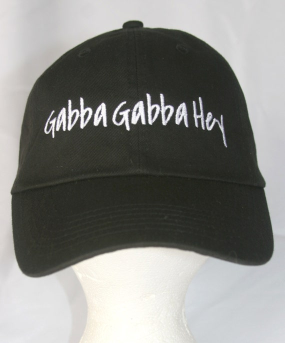 Gabba Gabba Hey - Polo Style Ball Cap (Black with White Stitching)