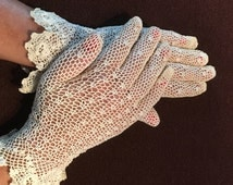 Antique women's gloves, handmade