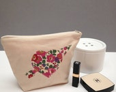 Liberty Print Heart Make-Up Bag/Cosmetic Pouch/Valentines Gift/Wedding accessory/Bridesmaids Gift/ Liberty Print Heart/Choice of 20 prints
