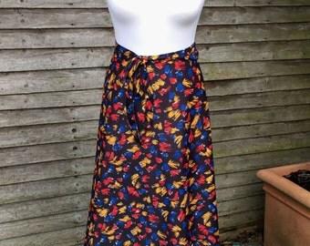 VINTAGE 80s Circle Skirt