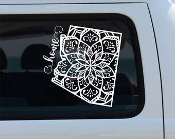 Arizona State Mandala Decal - Car Sticker - Mandala Decal - Arizona Decal - Car Decal - State Decal - Arizona Mandala - Decal