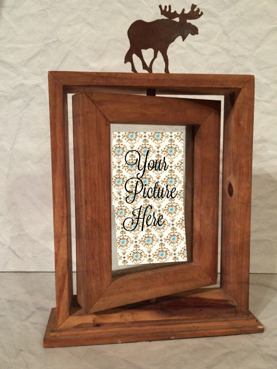 Rustic Moose Picture Frame Moose Picture By