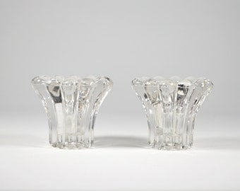 2 German pressed glass chandeliers