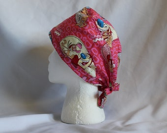 Ren & Stimpy Surgical Scrub Cap Chemo Dental Hat
