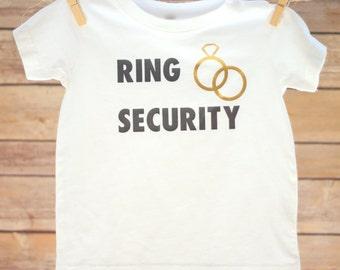 Ring Security Shirt, Ring Bearer Baby, Ring Security Toddler,  Ring Bearer Shirt, Baby Ring Security, Ring Bearer Shirts, Baby Wedding Shirt