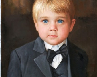 Custom portrait-custom oil painting-oil painting-custom child portrait-custom painting from photo-personalized portrait- oil portrait-ETSY