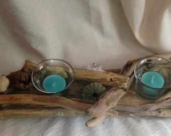 Candleholder Driftwood N 4