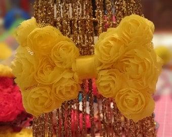 Rosette hair bow