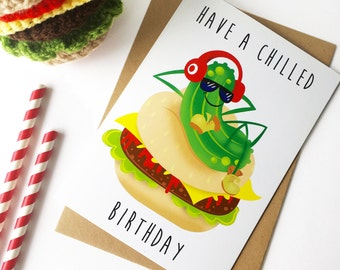 Teenage birthday card, Teen boy, for him, son, nephew, grandson cool, funny, chilled birthday card