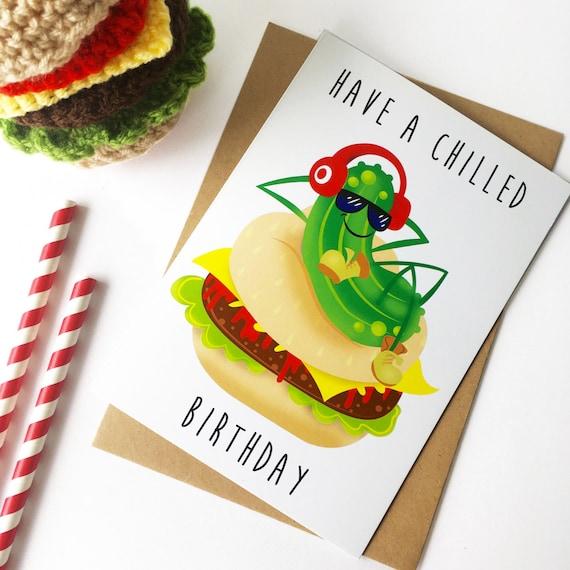 Birthday Card. Unique Fun And Cool Idea For Teenage Boy