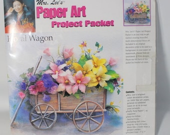 Mrs. Lee Paper Art project Packet Floral Wagon
