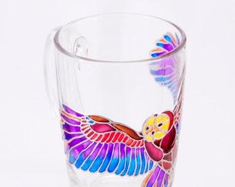 Owl Mug, Hedwig Mug, Hand Painted Owl, Woodland Mug, Owl Cup, Unique Owl, Custom Owl Mug