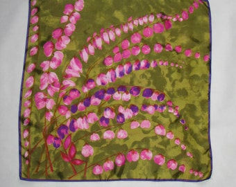 Vintage SCARF St. Michael scarf pattern floral impressionistic