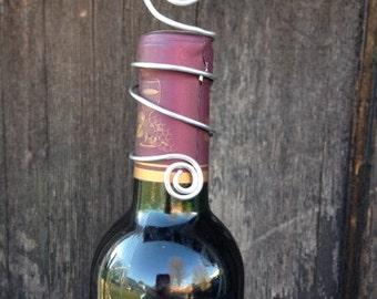 Wine Bottle Table Number Holder, Champagne Bottle Table Number Holders, Place Card Holder, Wire Table Number Holder, Photo Holder