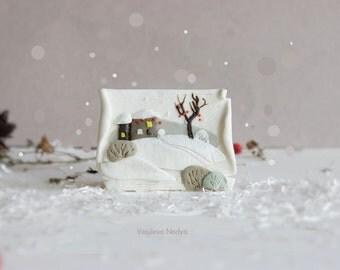 Winter Christmas handmade gift handmade things Magnets to order hostess gift Magnet