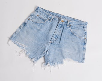 Distressed Cut off Wranglers