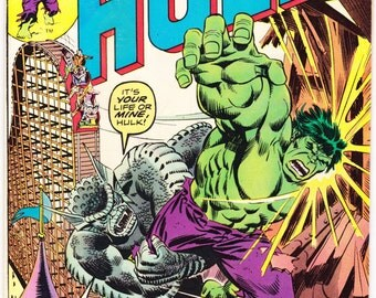 The Incredible Hulk 195, Smash, comic book, Abomination, Bronze Age, Herb Trimpe art. 1976 Marvel Comics in FN (6.0)
