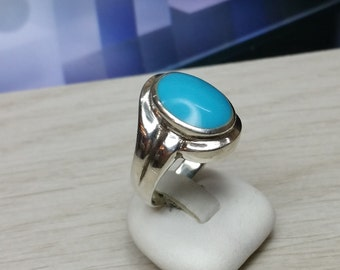 Nostalgic.925 Silver ring with turquoise 18.1 mm, size 7.9 SR181