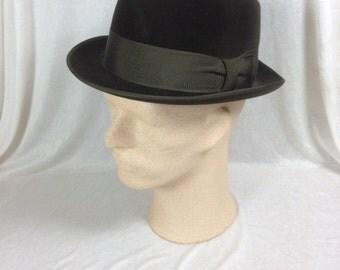 Vintage Velvet Stevenson & Sons Hat Vintage Hat Handmade Vintage Hat