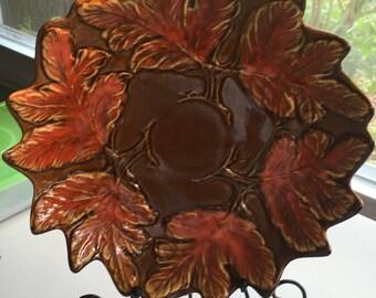 Festive Brown and Orange California Pottery