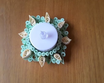 Quilled Candle Holder with Battery operated Tea light