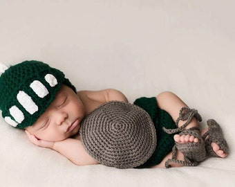 Crochet Infant Photo Prop, Spartan Gladiator Set, Crochet Baby Warrior Set, Crochet Knight Hat, Crochet Diaper Cover, Baby Shower Gift