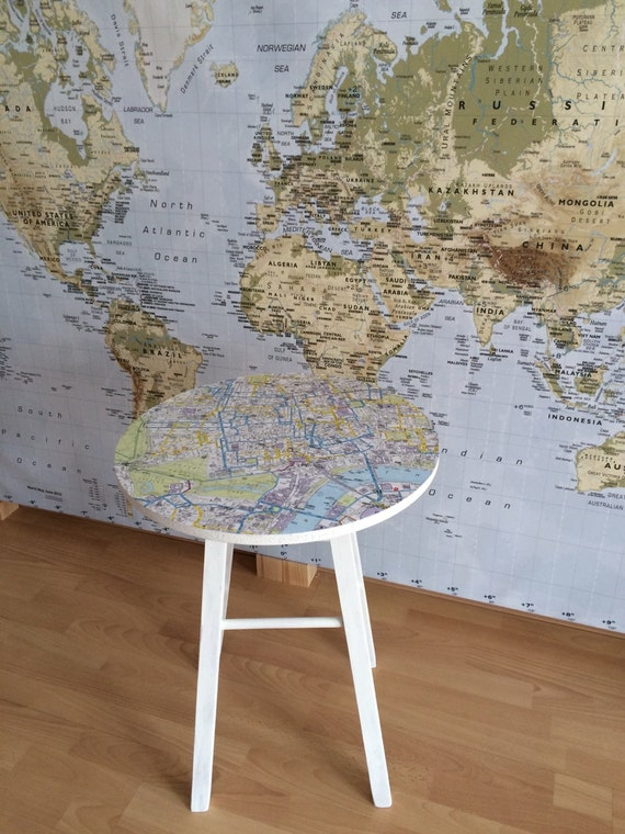 London Map Coffee Table